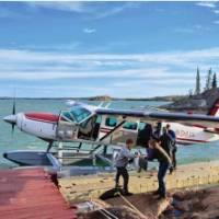 Summer float plane ride into Northwest Territories eco-lodge | H Wang