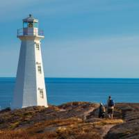Hikers near Cape Spear Lighthouse National Historic Site