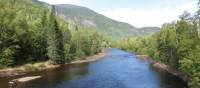 The Malbaie River cuts through the forests and mountains of Charlevoix | Aventure Quebec A. Levesque