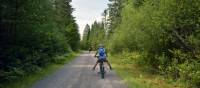 Young cyclist having fun on the trail | Nathalie Gauthier