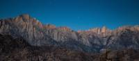 The Sierra Nevada crest near Lone Pine, California, with Lone Pine Peak, left, Mt. Whitney, right | Visit California/Max Whittaker