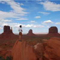 Enjoying the view in Monument Valley   Tanya Cross