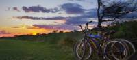 Beautiful sunset in the Hamptons