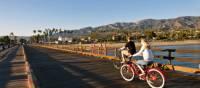 Biking on Stearns Wharf | Visit Santa Barbara / Jay Sinclair