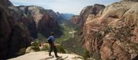 View from top of Angels Landing at Zion National Park | ©VisittheUSA.com